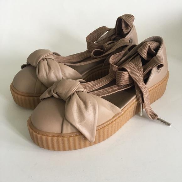 722202291c2f FENTY PUMA Bow Creeper Sandals Lace Up 8.5 NIB